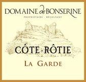 Étiquette du Domaine de Bonserine Côte-Rôtie la Garde