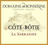 Étiquette du Domaine de Bonserine Côte-Rôtie la Sarrazine